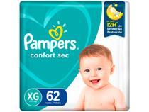 Fralda Pampers Confort Sec Tam. XG 11 a 15kg - 62 Unidades
