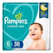 Fralda Pampers Confort Sec Tamanho G 38 Tiras -