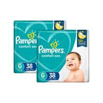 Fralda Pampers Confort Sec Tamanho G com 76 Unidades -