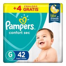 Fralda Pampers Confort Sec Tamanho G Pacote Mega 42 Fraldas Descartáveis -