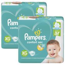 Fralda Pampers Confort Sec Tamanho XG com 68 Unidades -
