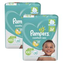 Fralda Pampers Confort Sec Tamanho XXG com 60 Unidades -