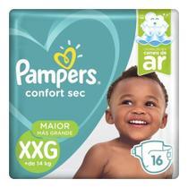 FRALDA PAMPERS CONFORT SEC  XXG/16un -