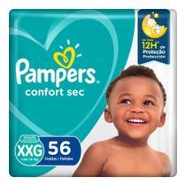 Fralda Pampers Confort Sec XXG 56 Unidades -