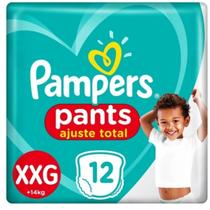Fralda Pampers Descartaveis  Pants Ajuste Total XXG 12 unidades -
