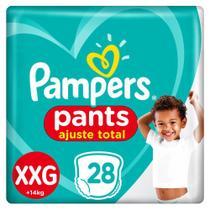 Fralda Pampers Pants Ajuste Total Tamanho XXG com 28 Fraldas Descartáveis -