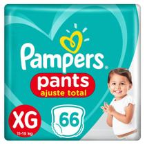 Fralda Pampers Pants Ajuste Total Top Tamanho XG 66 Unidades -