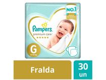 Fralda Pampers Premium Care G - 30 Unidades