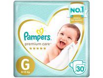 Fralda Pampers Premium Care G 9 a 13kg - 30 Unidades