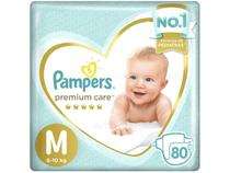 Fralda Pampers Premium Care M - 80 Unidades
