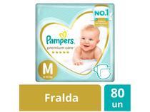 Fralda Pampers Premium Care M - 80 Unidades