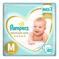 Fralda Pampers Premium Care Nova Jumbo Tamanho M 80 Unidades -