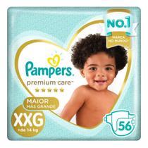 Fralda Pampers Premium Care Nova Jumbo Tamanho XXG 56 Unidades -