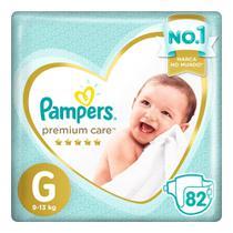Fralda Pampers Premium Care Nova Top Tamanho G 82 Unidades -