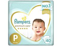 Fralda Pampers Premium Care P - 40 Unidades