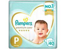 Fralda Pampers Premium Care P - 5 a 8kg 40 Unidades