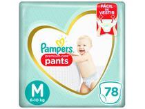 Fralda Pampers Premium Care Pants Calça Tam. M - 6 a 10kg 78 Unidades
