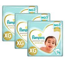 Fralda Pampers Premium Care Top Tamanho XG 228 Unidades -