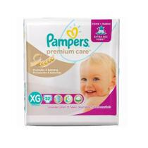 Fralda pampers premium care xg c/32 mega