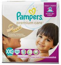 Fralda pampers premium care xxg c/32