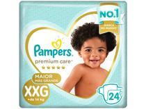 Fralda Pampers Premium Care XXG - + de 14kg 24 Unidades