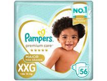 Fralda Pampers Premium Care XXG + de 14kg - 56 Unidades