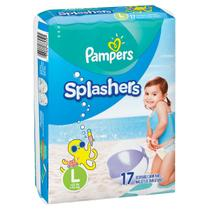 Fralda Pampers Splashers Praia E Piscina - Tam G - 17 Tiras -