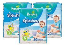 Fralda Pampers Splashers Praia/piscina Tam P  20 Tiras (3un) -