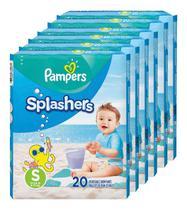 Fralda Pampers Splashers Praia/piscina Tam P  20 Tiras (6un) -