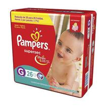 Fralda Pampers Superse- G- com 26 Unidades - Procter  gamble do brasil