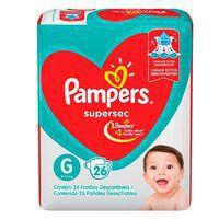 Fralda Pampers Supersec - G - 26 unidades