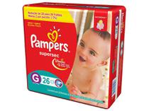 Fralda Pampers Supersec G - 26 Unidades