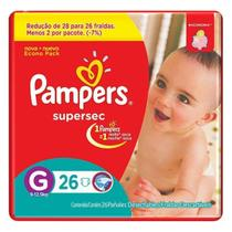 Fralda Pampers Supersec G com 26 Unidades - 0