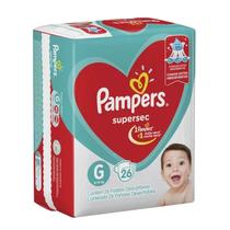 Fralda Pampers Supersec G Com 26 Unidades -