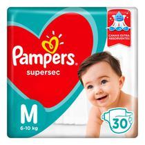 FRALDA PAMPERS SUPERSEC M/30un -