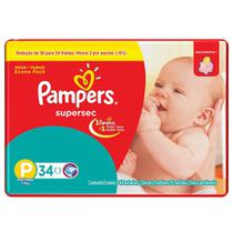 Fralda Pampers Supersec P com 34 unidades - Procter  gamble