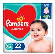 Fralda Pampers Supersec Tamanho XG com 22 Fraldas Descartáveis -