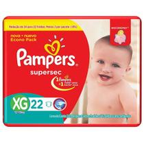 Fralda Pampers Supersec XG 22 Unidades - 0