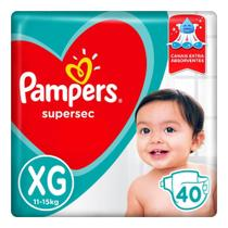 Fralda Pampers Supersec XG 40 Unidades