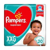 Fralda pampers supersec xxg com 20 -