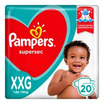 Fralda Pampers Supersec XXG com 20