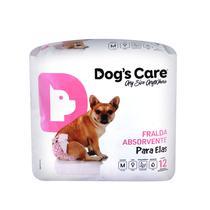 Fralda para femeas tam m - pacote c/ 12 unidades - Dogs Care
