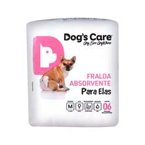 Fralda para femeas tam m - pacote com 6 unidades - Dogs Care