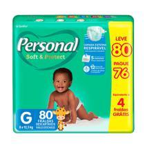 Fralda Personal Soft & Protect Tamanho G Leve 80 Pague 76 Fraldas Descartáveis -
