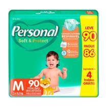 Fralda Personal Soft & Protect Tamanho M Leve 90 Pague 86 Fraldas Descartáveis -