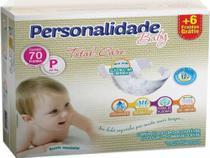 Fralda personalidade baby total care  até 5kg - p c/70 unidades -