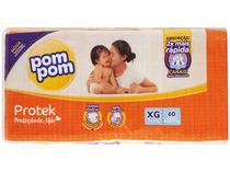 Fralda Pom Pom Proteção de Mãe Protek Tam. XG - 12 a 15kg 60 Unidades