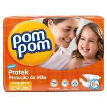 Fralda Pom Pom Protek Baby Grandinhos com 14 Unidades -