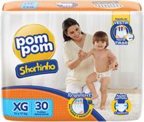 Fralda Pom Pom Shortinho Jumbo XG 12kg a 17kg com 30 unidades - Pompom -