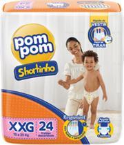 Fralda Pom Pom Shortinho Jumbo XXG 15kg A 25kg com 24 unidades - Pompom